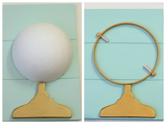 DIY globe artwork