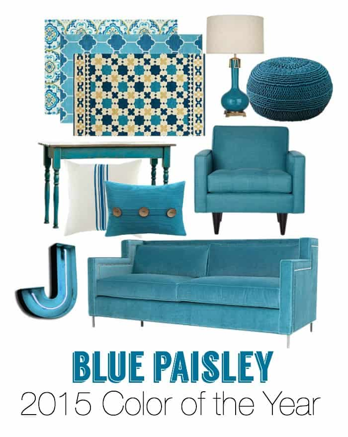 Blue Paisley coloured accessories