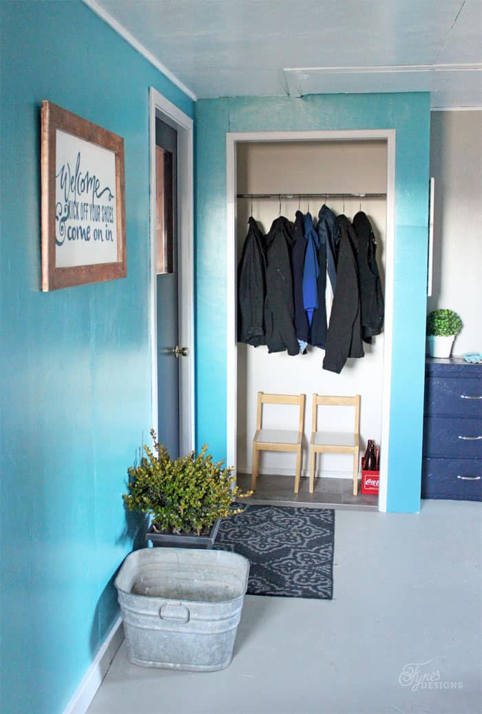 Beautiful Mud Room Makeover with only paint  from Voice of Color