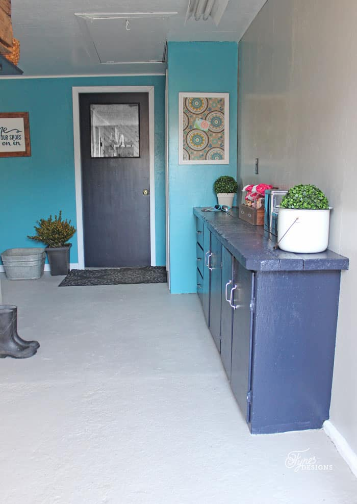 Beautiful Mud Room Makeover with only paint