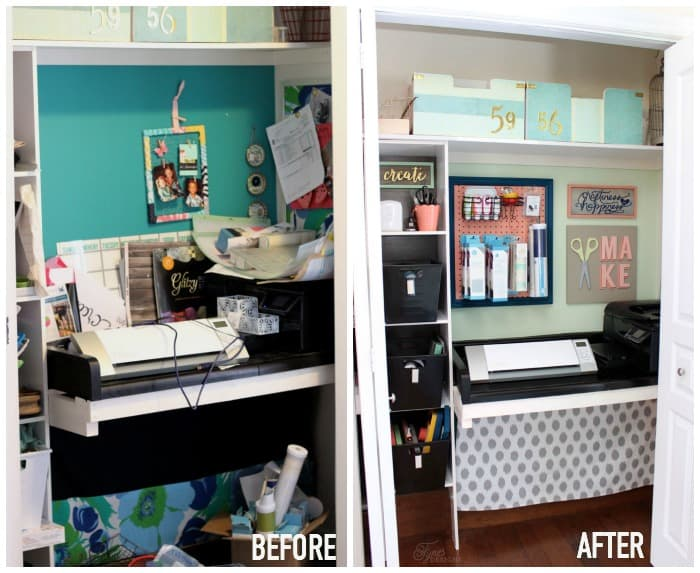 craft closet before and after