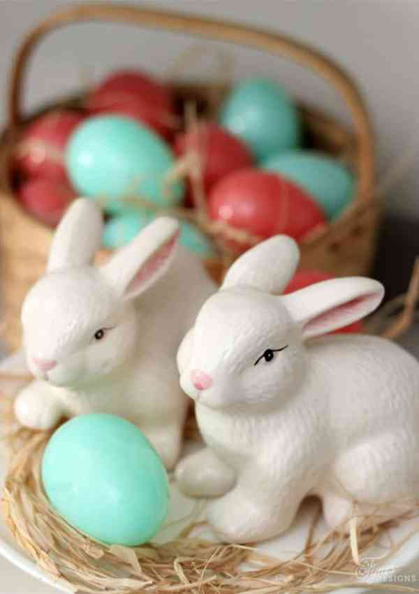 Bright Easter Hutch Decor