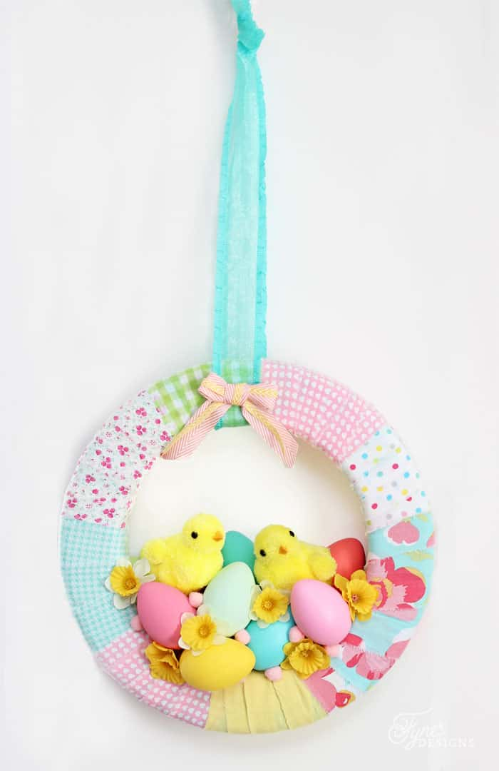 Spring Easter Chick Wreath