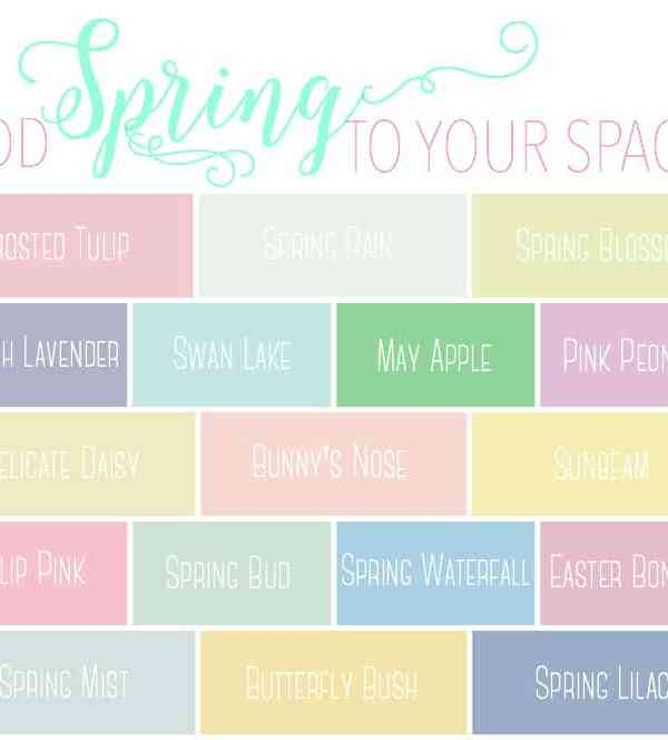 Add Spring to Your Space: 20 Fabulous Spring Paint Colors