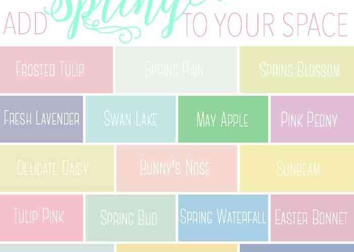Spring inspired paint colors for PPG Voice of Color