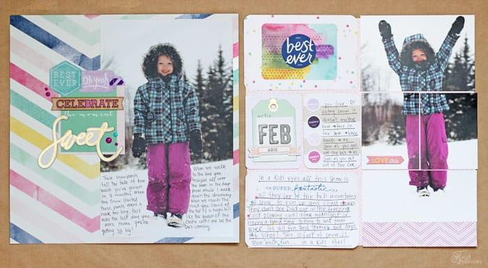 Winter scrapbooking layout