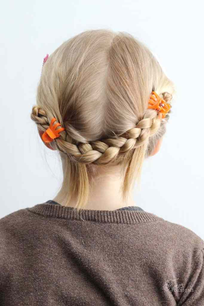 5 Minute Hairstyles for School featured by top US life and style blog, Fynes Designs |5 Minute Hairstyles by popular Canada lifestyle blog, Fynes Designs: image of a braid crown hairstyle.