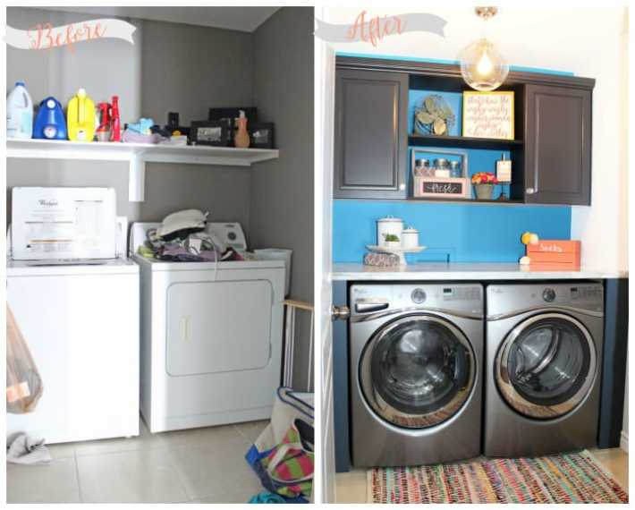 Laundry room Makeover done in a weekend, with in-stock fixtures