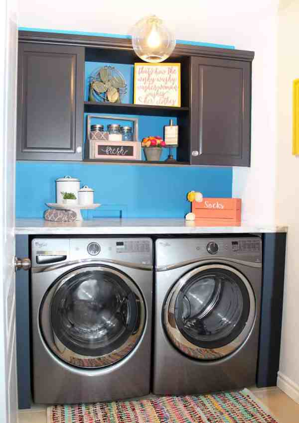 The Big Reveal- Simple Laundry Room Ideas
