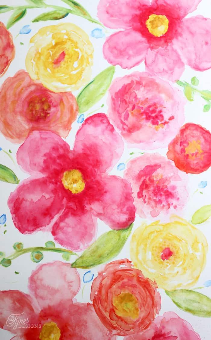 Large floral watercolor- beginner