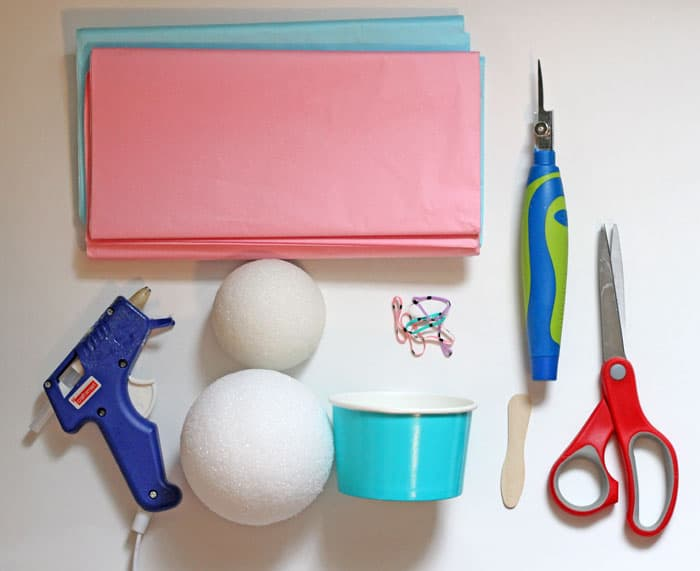 supplies to make ice cream decorations