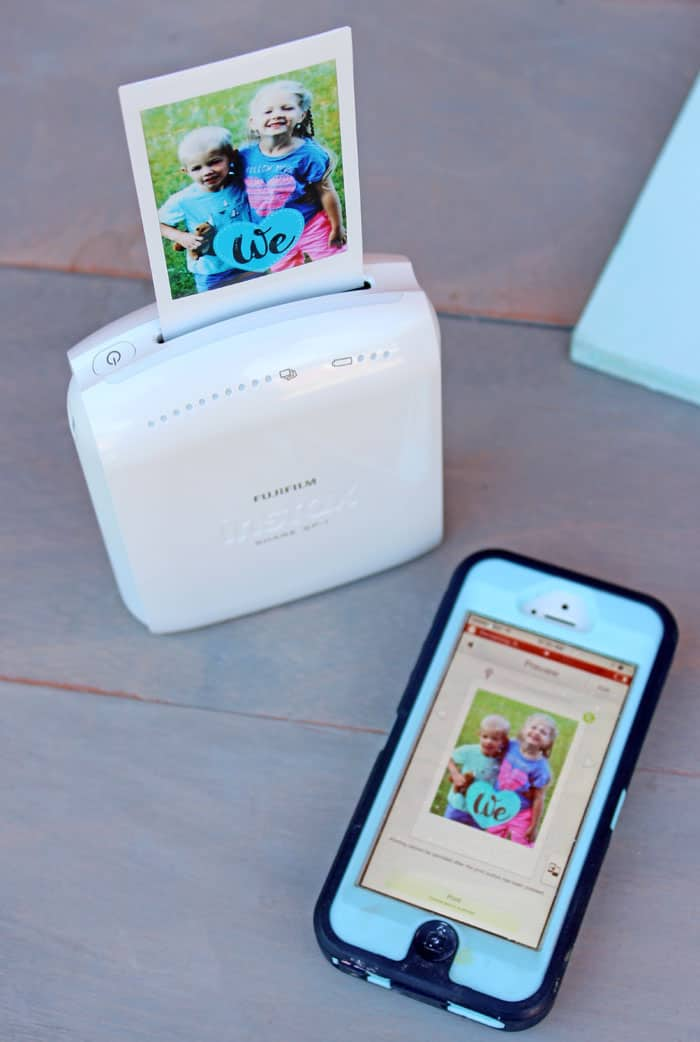 Create a fun photo gift with the INSTAX SHARE printer