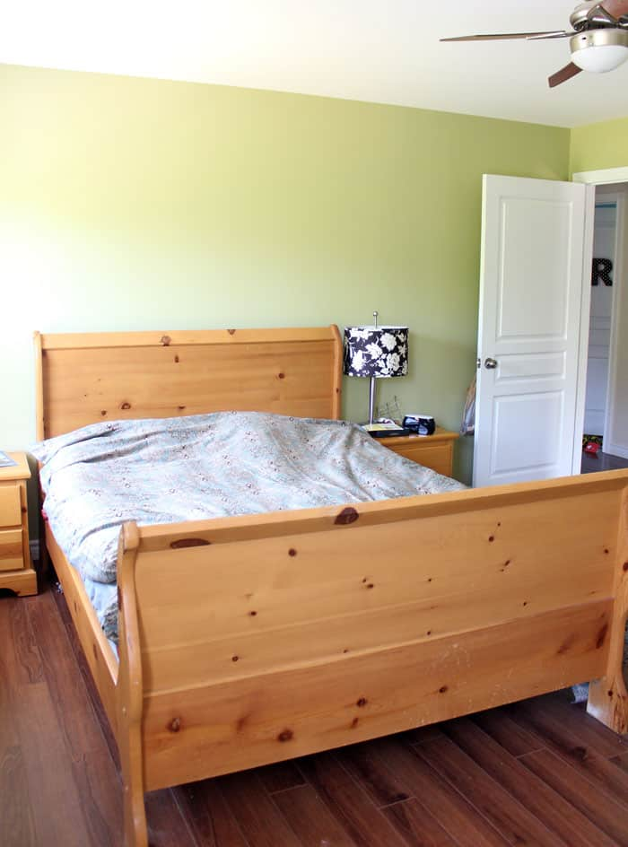 ugly bedroom pine bed