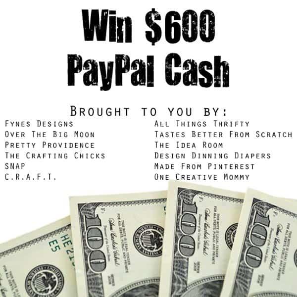 Win $600 pay pal cash!