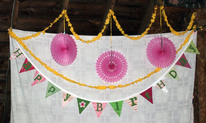 Happy Birthday Fabric banner