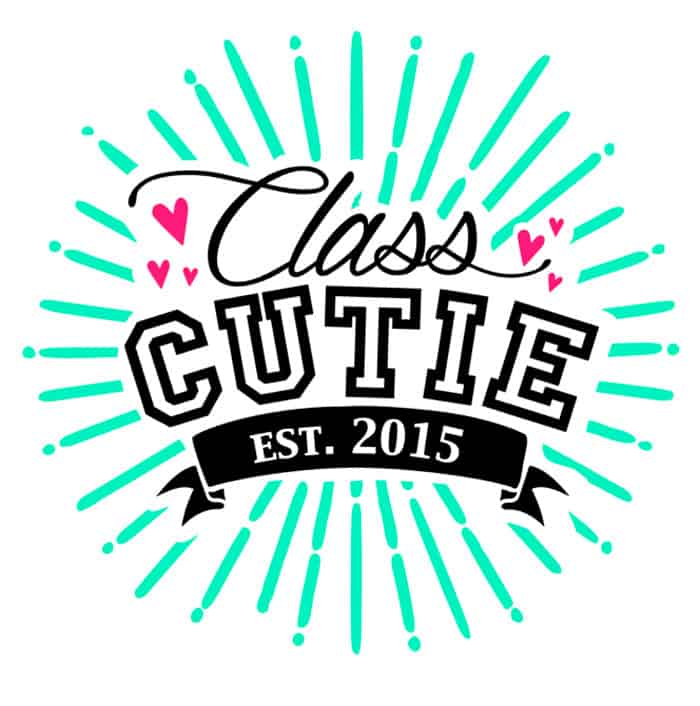 FREE Silhouette HTV t-shirt cut file for your little class cutie