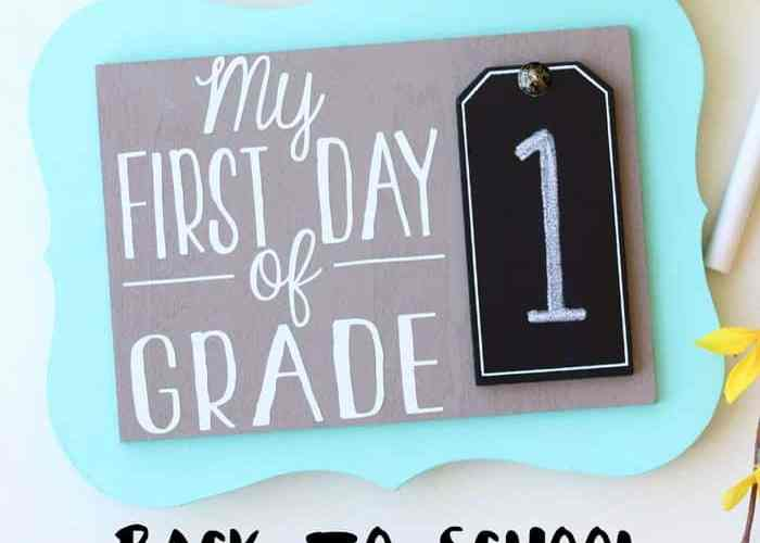 Quick back to school craft. Reversable, Last day of school on the back. Use year after year!