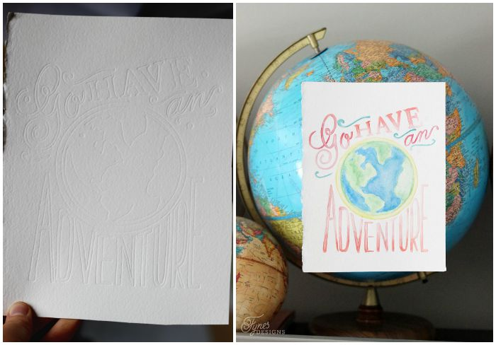 How to create beautiful hand painted watercolour prints with the Silhouette Curio