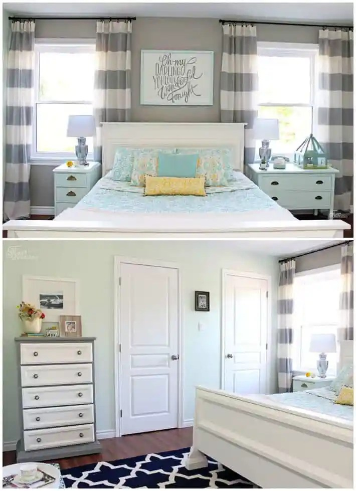You won't believe what this bedroom looked like before the makeover!