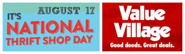 Value Village National Thrift shop day Aug 17