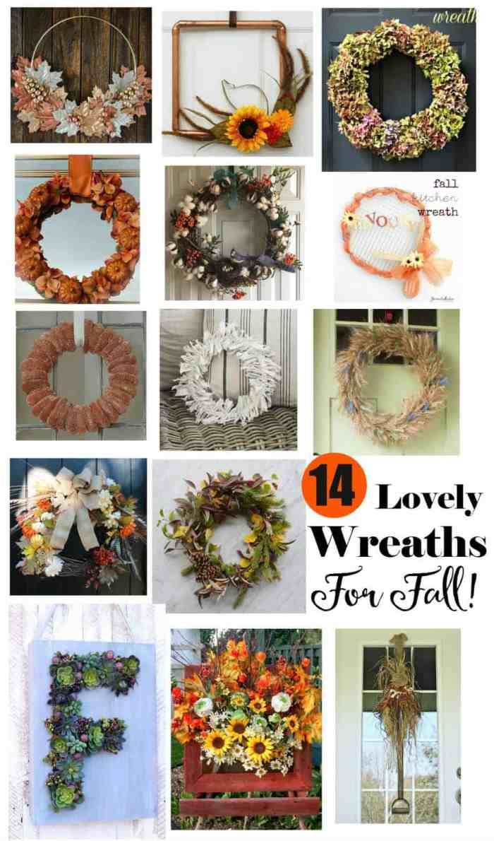 14 unique fall wreath ideas