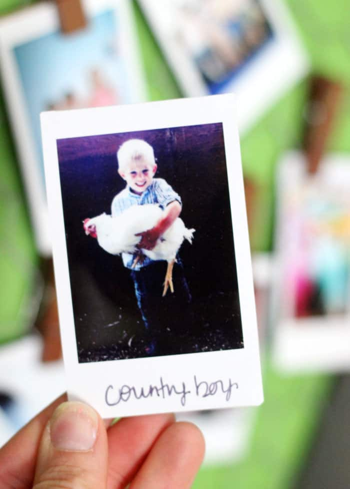 Add personal messages or hashtags to Instax photos