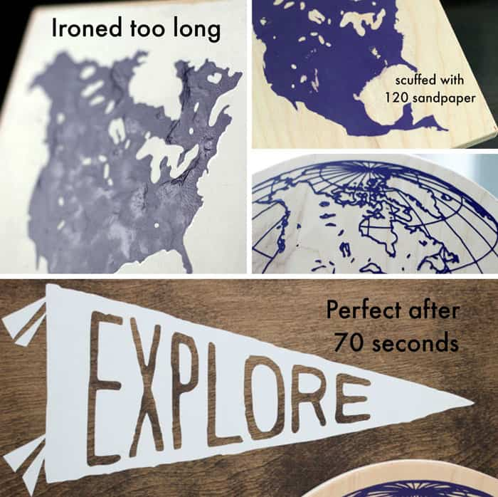 How to Use Heat Transfer Vinyl on Wood, a tutorial featured by top US home decor blog, Fynes Designs | How to Apply HTV vinyl on wood