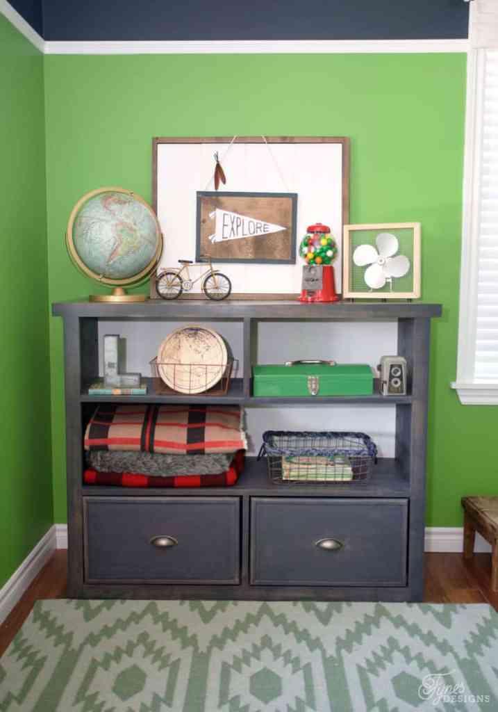 Top 10 Cheap Bedroom Decoration Ideas featured by top US DIY and interior design blog, Fynes Designs: Boy's Bedroom Bookcase DIY