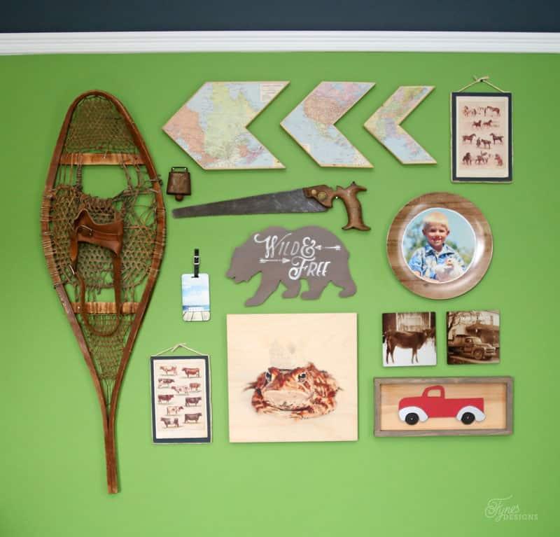 Boy's Rustic Gallery wall