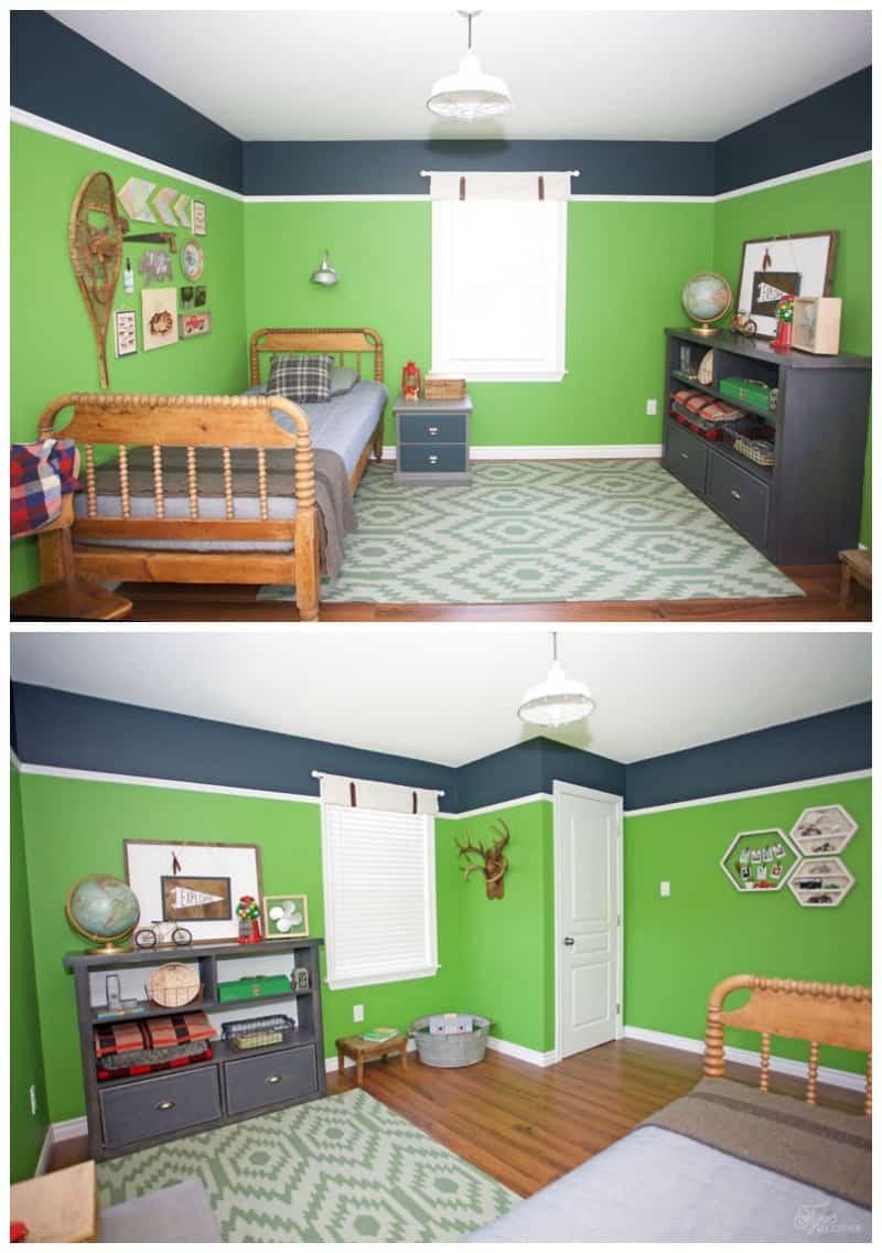Modern Rustic boy bedroom makeover