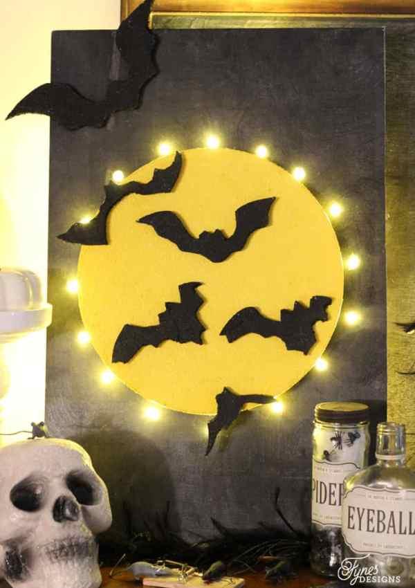Halloween Full Moon Marquee Sign
