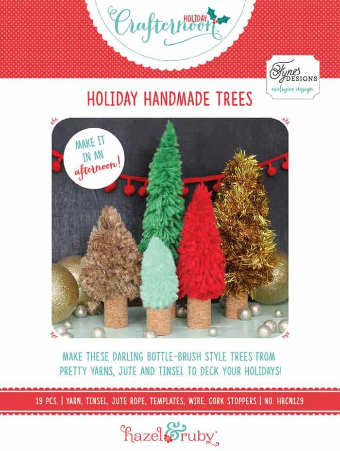 Holiday Handmade trees DIY kit to make your own bottle brush trees