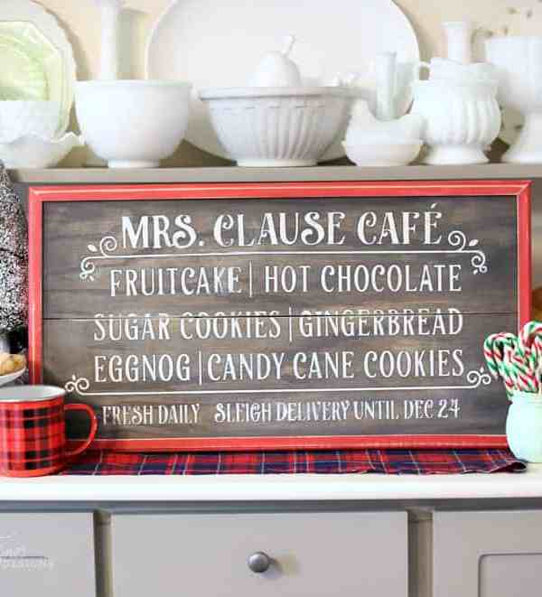 Christmas Kitchen Painted Wood Sign