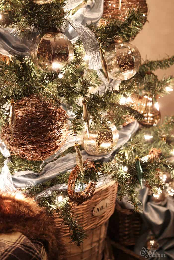 Rustic Glam Christmas tree ideas