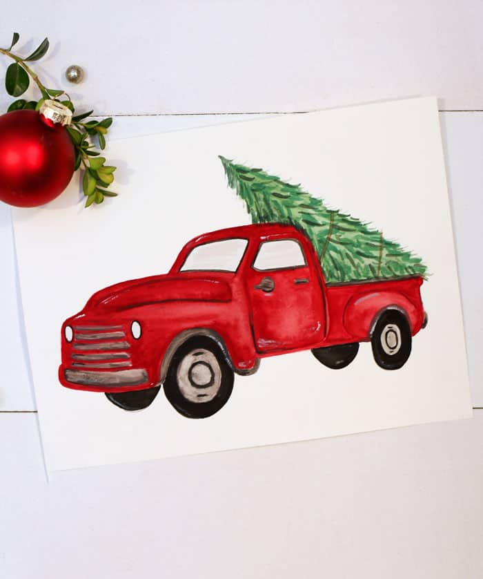 red-christmas-truck