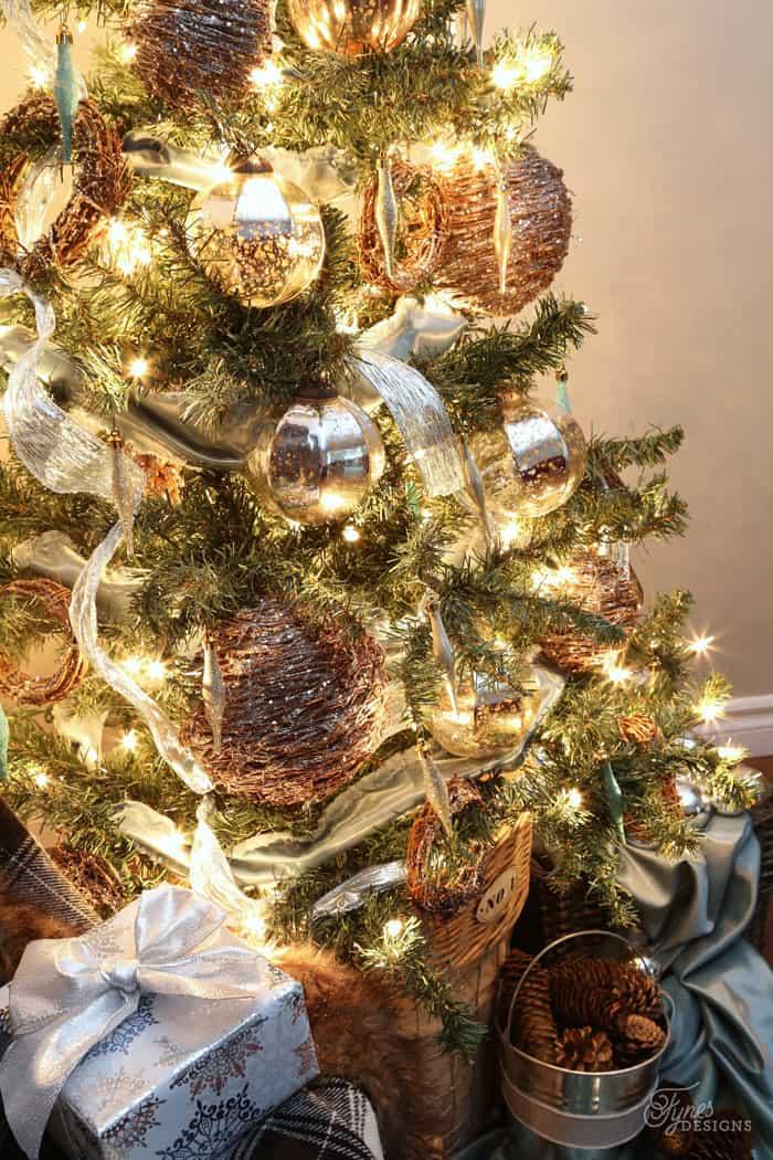 Rustic Glam Christmas tree ideas