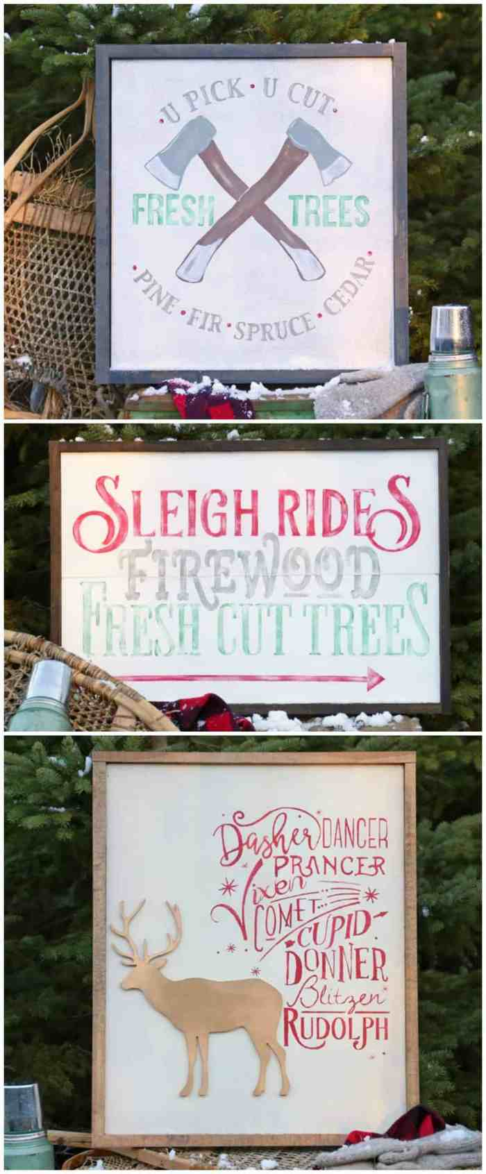 Free Silhouette cut file Christmas Trio- Perfect for Painted signs