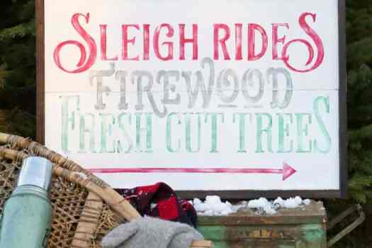 Sleigh Rides, Firewood, Fresh Cut Trees, Free Silhouette Christmas Cut Files