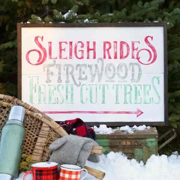 Sleigh Rides, Firewood, Fresh Cut Trees, Free Silhouette Christmas Cut Files