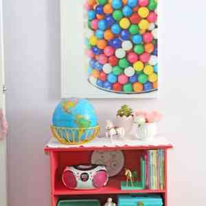 Big bubble gum canvas print from Shutterfly