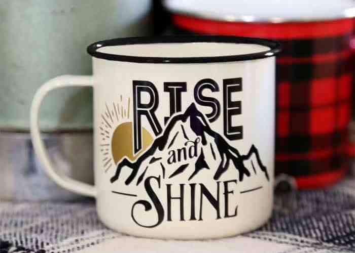 Free Rise and Shine Silhouette Cut File. Use in various ways, on mugs, painted signs, scrapbooking layouts
