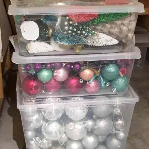 Ideas for Storing Christmas decorations