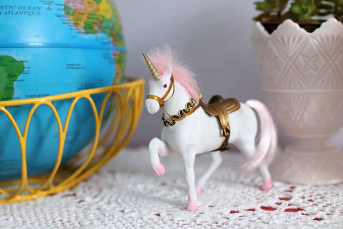 plastic unicorn