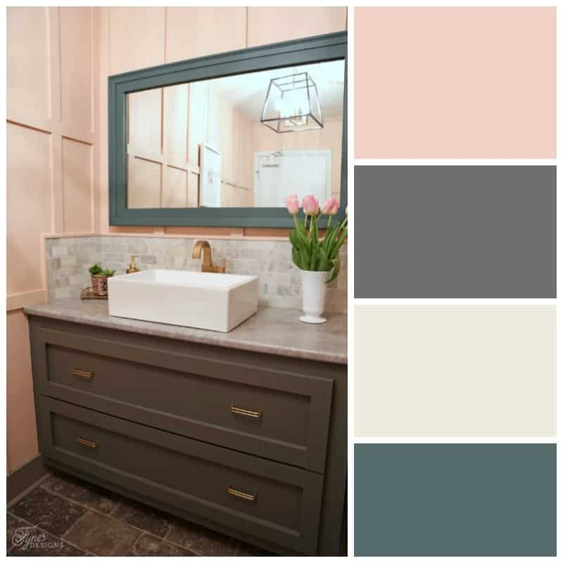 Ladies Restaurant Bathroom Color scheme from Voice of Color PPG