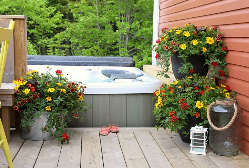 Patio planters from #PCGarden