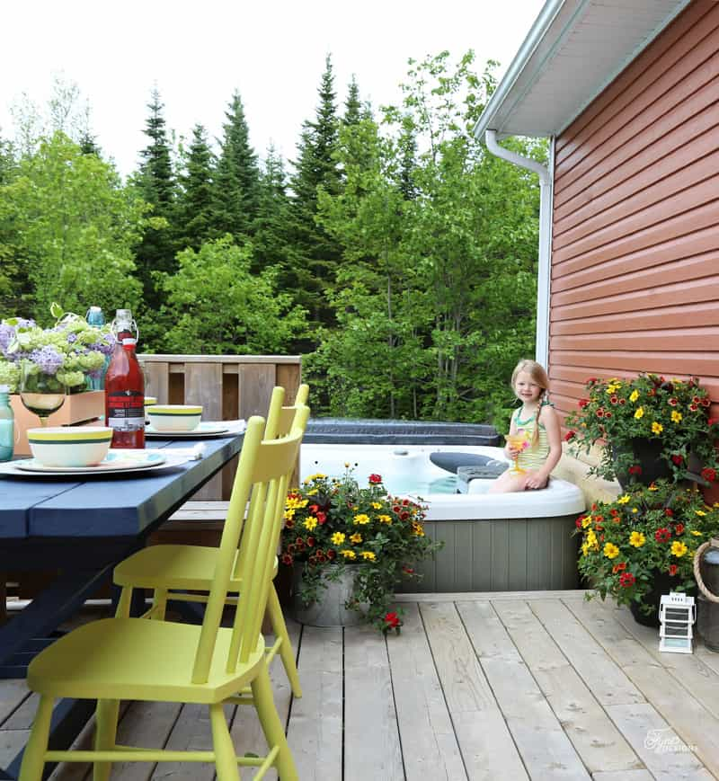 Attractive Mini Patio Makeover Just By Adding A Bit Of Color And Flowers