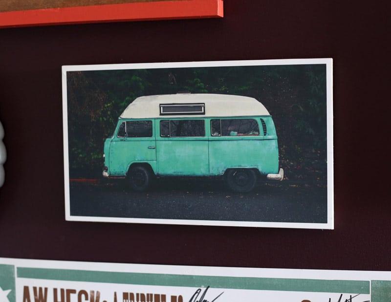 Free Canva camper van print
