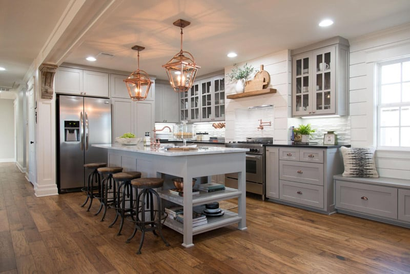 Fixer Upper Kitchen Farm House Inspired Colors