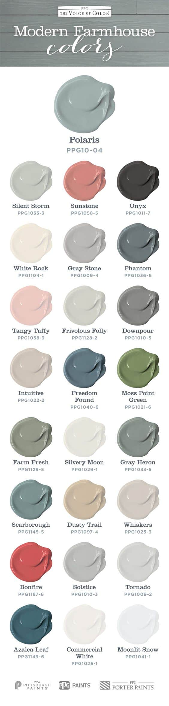 Modern Farmhouse Colors from Voice of Color, a review featured by top US life and style blog, Fynes Designs: Modern Farm House Colors inspired by Chip and Joanna Gaines Fixer Upper. Fill your home with this color palette to achieve a soft welcoming farmhouse look.