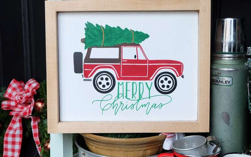 Painted Christmas truck sign- FREE Silhouette Cut Files